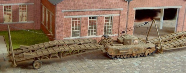 Churchill AVRE IV with trailer for Churchill AVRE S.B.G. Assault Bridge  and 2 bridges  - Matador Models