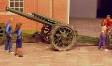 60Pdr BL Mk I Field Gun�with Modified B No. 12 Wheel - Matador Models