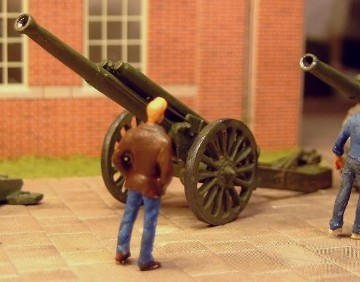 60Pdr BL Mk I Field Gun�with Wheel 1st Class B No. 12 - Matador Models